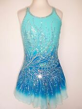 NEW FIGURE ICE SKATING BATON TWIRLING DRESS COSTUME ADULT XS