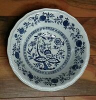"Kensington Coventry Blue Serving Vegetable Bowl 9"" Onion Staffordshire Ironstone"