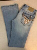 REUSE (R.E.U.S.E.) Low Rise Boot Cut Jeans - Light Wash - 28 x 35L
