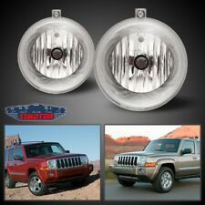 Fit Jeep Commander 06-10 Clear Lens Pair Bumper Fog Light Lamp OE Replacement