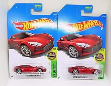2017 Hot Wheels Aston Martin One-77 - No. 200 - Pearl Red - Set of 2