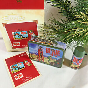 GI Joe 2002 Lunchbox Ornament Hallmark Lunchbox Thermos Set NIB Scuba Diver Xmas