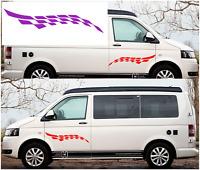 """LARGE 24"""" CHEQUER DECALS - Vinyl Stickers - badge car caravan boat CAMPER VAN"""