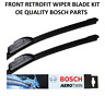 Seat Leon Front Windscreen Wiper Blade Set 1998 to 2004 BOSCH AEROTWIN