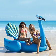 Inflatable Giant Peacock Swimming Pool Float Raft Beach Seat Water Toy Ride On