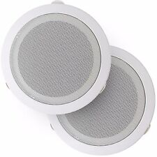 """Frisby 2x 400 Watt Pair Frisby 6"""" 3-Way Home Theater In-Wall/Ceiling Speakers"""