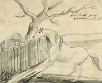 Charles Loraine-Smith, Horse & Foal Study – Early 19th-century watercolour