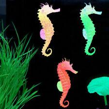 Artificial Aquarium Glow Landscaping Silicone SeaHorse Ornaments Fish Tank Decor