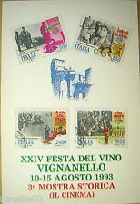 VIGNANELLO XXIV Festa del vino agosto 1993 Viterbo