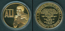 MUHAMMAD ALI Boxing Champion Of The World GOLD PLATED Coin Medal