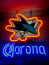Corona San Jose Sharks Nhl Hockey Fan Man Cave Bar Beer Neon Light Sign 2010 Usa