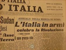 LA VOCE D'ITALIA Il Giornale 27-28 ottobre 1940 fascismo A.O.I. Mussolini WWII