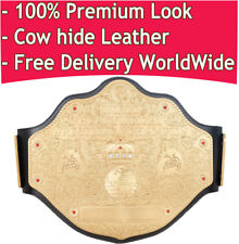 WCW Heavyweight Championship Replica Title Belt Big Gold Leather Premium Look