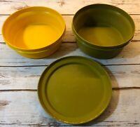Vintage Tupperware 3 Pcs Seal N Serve Bowls 1252 1253 Lid 1207 FREE SHIPPING