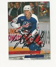 93/94 Ultra Autographed Hockey Card Todd Marchant Team USA