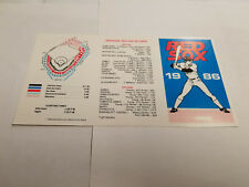 Boston Red Sox 1986 Pocket Schedule - Savers Co-operative Bank