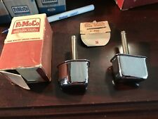 1957 1958 FORD NOS DOOR HANDLE BUTTONS GALAXIE CHROME