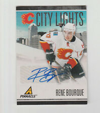 2010/11 PANINI PINNACLE RENE BOURQUE CITY LIGHTS AUTOGRAPH AUTO CARD 34/99
