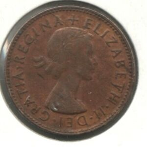 1953A Halfpenny Obverse Hub Doubling To The Left Variety