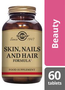 Solgar® Skin, Nails and Hair Formula Tablets Pack of 60 Sugar Salt Free Vegans