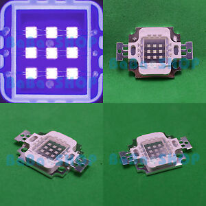 10W 45mil Purple 415nm~420nm UV LED Chip Lamp Light Bulb Ultra Violet Emitter