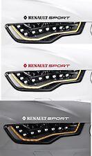 Pour renault - 2 x renault sport-phare-voiture décalque autocollant - 300mm long