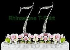 NEW Large Rhinestone  NUMBER (77) Cake Topper 77th Birthday Party Anniversary