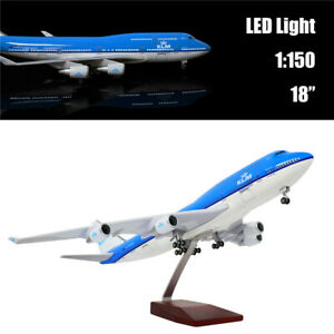 """18""""(46cm)1:150 Holland 747 with LED Light Plane Model for Decoration or Gift"""