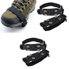 2Pcs Universal 4 Tooth Simple Crampons Anti-slip Ice Cleats for Hiking Boots
