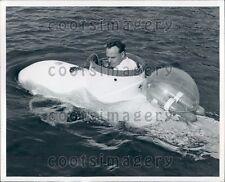 One Man Mini Submarine Demonstration Press Photo