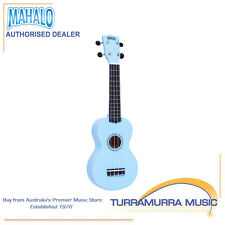 Mahalo MR1 Rainbow Series Soprano Ukulele with Carry Bag - Lt Blue Uke - MR1LBU