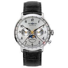 Uhr Zeppelin Herren-Armbanduhr - Hindenburg Mondphase - Quarz Leder schwarz UZ70