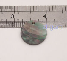 1pcs 20mm black Coin shell natural mother of pearl for pendant earring DIY