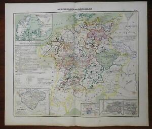 Germany & Denmark Austria Bohemia Prussia 1848 Mahlmann historic map