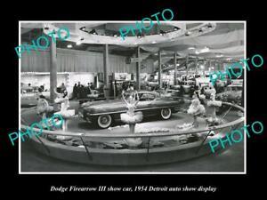 OLD 8x6 HISTORIC PHOTO OF DODGE FIREARROW 1954 DETROIT MOTOR SHOW DISPLAY