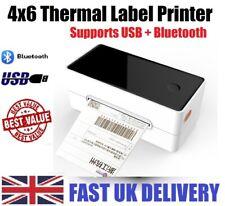 🖨️ 4x6 Shipping Label Thermal Printer USB + Bluetooth  100x150mm  MHT-P108D UK