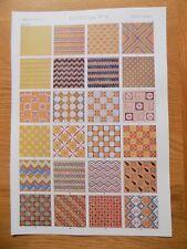 Original Book Print Grammar of Ornament Owen Jones 13x9 Inch Egyptian 6