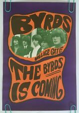 The Byrds Is Coming vintage poster Konst 60's Pin-up Village Gate Crosby McGuinn