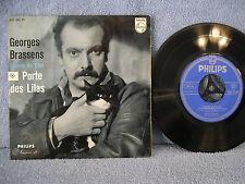 GEORGES BRASSENS, Chante-Du-Film-Porte-des-Lilas, Philips 432 203 PE,  EP