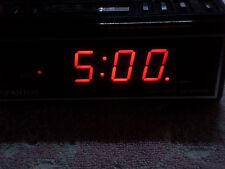 Retro Spartus 1064 Red Clock