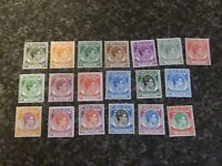 MALAYA STATES PENANG POSTAGE STAMPS SG3-21 UN-MOUNTED MINT & LIGHT MOUNTED MINT