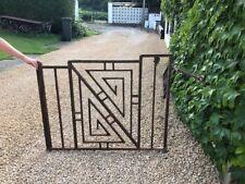 double grille portail art déco