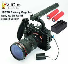 ViiGim - 18650 DC Coupler Rig Cage for Sony A7SII / A7RII -Bonus Battery Charger