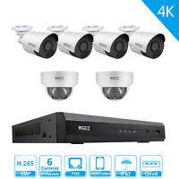 4k Security camera system WGCC Camera System 8ch PoE NVR with 4MP IP Cameras