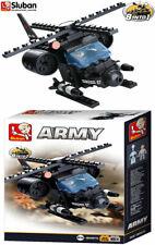 Sluban Toy Helicopter Building Blocks Army Model Military Bricks Blocks B0587G