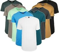 Urban Classics Herren T-Shirt Shaped Long Tee Extra Lang Oversize Shirt Big Size