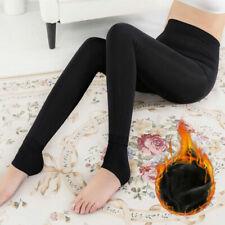 Women Ladies Extra  Warm Thermal Winter Black Thick Fur Fleece Lined Legging