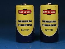 Vintage Ray-O-Vac General Purpose Size C Battery Set of 2 Batteries Made In Usa
