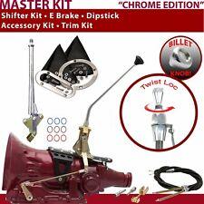 """C4 Shifter Kit 12"""" E Brake Cable Trim Kit Dipstick For E4811 fits lokar trans"""