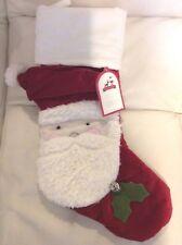 Pottery Barn Kids Christmas Luxe Velvet Stocking Santa No Mono NWT!
